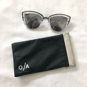 Quay Australia Silver My Girl Cat Eye Sunglasses